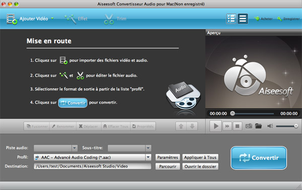 Comment utiliser aiseesoft convertisseur audio pour mac - Logiciel couper video mac ...