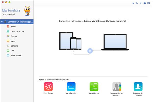 application pour transferer de la musique vers iphone 5s