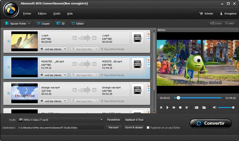 Les 5 meilleurs convertisseurs MTS gratuits pour convertir MTS en MP4, AVI,... Les fichiers vidéo sont proposés dans différents formats. Le MTS est l'un d'entre eux et certains appareils sont développés pour lire ce format de fichier.