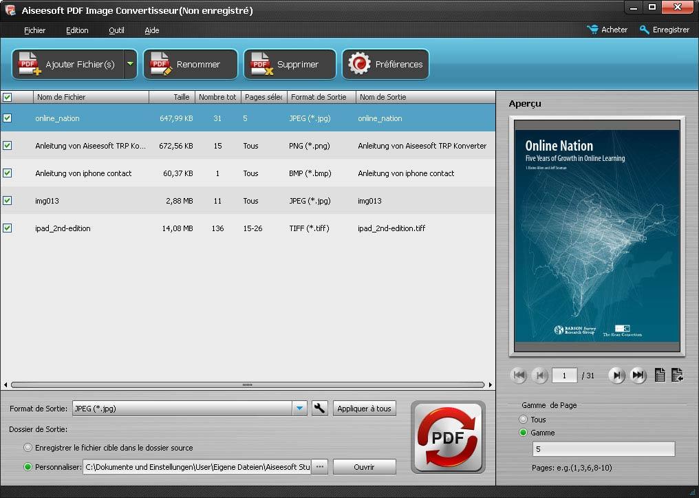 PDF Image Convertisseur,Convertisseur pour convertir PDF